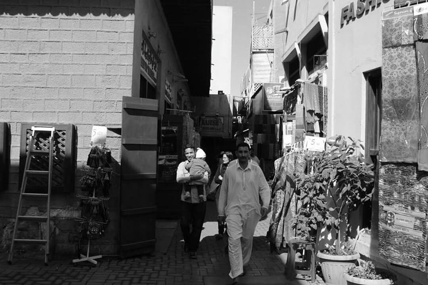 Retail  Store Building Exterior Business Finance And Industry Customer  People Local Market Tourists And Locals Walking Livingindubai Old Dubai