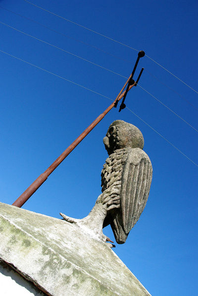 Memories of Bunaken National Park, Manado, 2009 Architecture Blue Clear Sky Damaged Day High Section Howl Low Angle View Nature No People Outdoors Roof Rope Sky Statue Tall Weathered