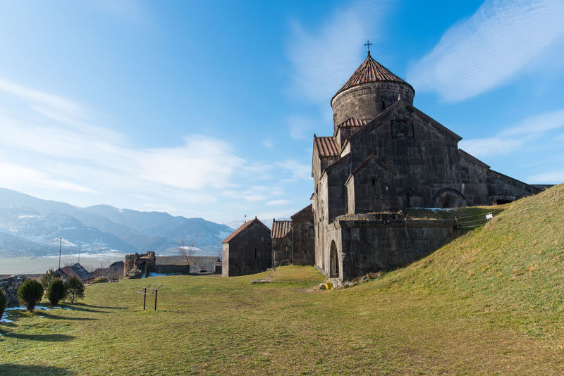 Ancient Apostolic Architecture Armenia Built Structure Church Cloud - Sky Day Haghpat History Landscape Mountain Mountain Range No People One With Nature Outdoors Place Of Worship Religion Sky Tourism Tradition Travel Travel Destinations Vacations World Heritage