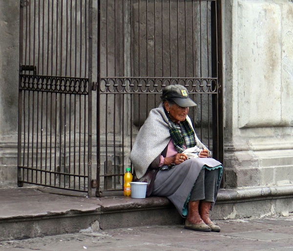 old lady in front of a church in Quito, Ecuador Adult Begging Church City City Life Cityscape Elderly Homeless Old Woman One Person Outdoors People Poor  Sitting Street What Who Where Streetphotography Travel Food And Drink Travel Photography Traveling Urban Help Snap a Stranger Long Goodbye The Photojournalist - 2017 EyeEm Awards