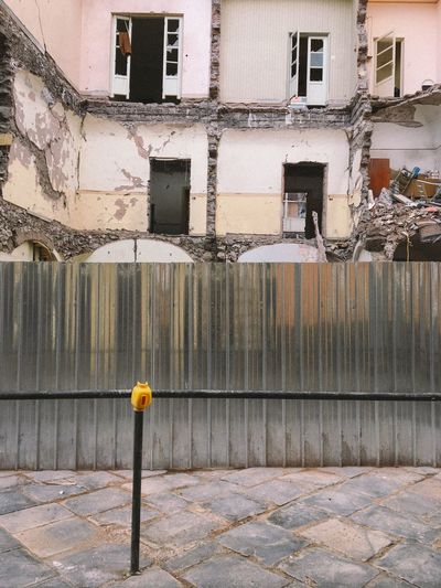 The Architect - 2017 EyeEm Awards Architecture Built Structure Outdoors Day No People City Geometric Shape Empty Architectural Sicilia Sicily City Architecture Building Destruction Demolition Demolition Zone Demolition Work Steel Structure  Fence Metall Fence