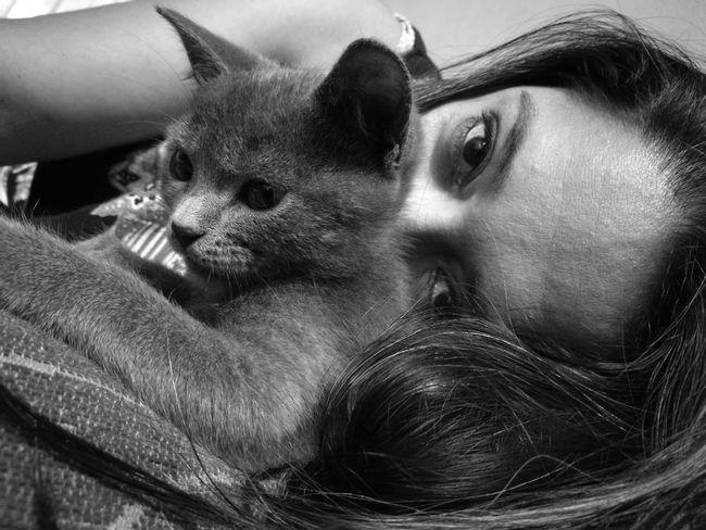 Saturdaynight Cat Lovers Villa Elisa Paraguayfotografias Photography Self Portrait Cat Cats Of EyeEm Cats 🐱 Micha Women Blackandwhite Monochrome Monocromatico Huawei P9 Leica