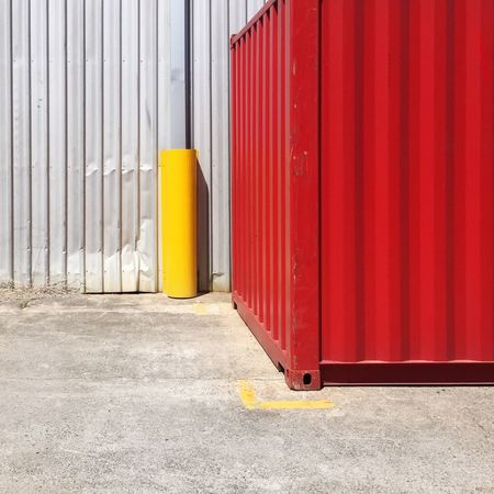 Architecture Red Built Structure Container Day Safety Cargo Container Outdoors No People Freight Transportation Corrugated Iron Building Exterior