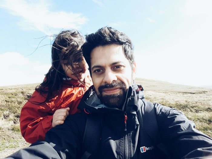 Hiking selfie with my daughter. Open Edit Hiking Sky Outdoors Mountain Cloud - Sky Thats Me  Father And Daughter Fatherhood Moments EyeEm Gallery VSCO Traveling Travel Children My Kids Mobile Photography