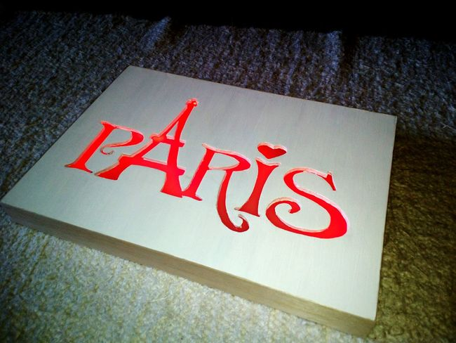 Paris Board Light DIY Doityourself Handmade Ledlight Decoration Homedecor Design Interior Design