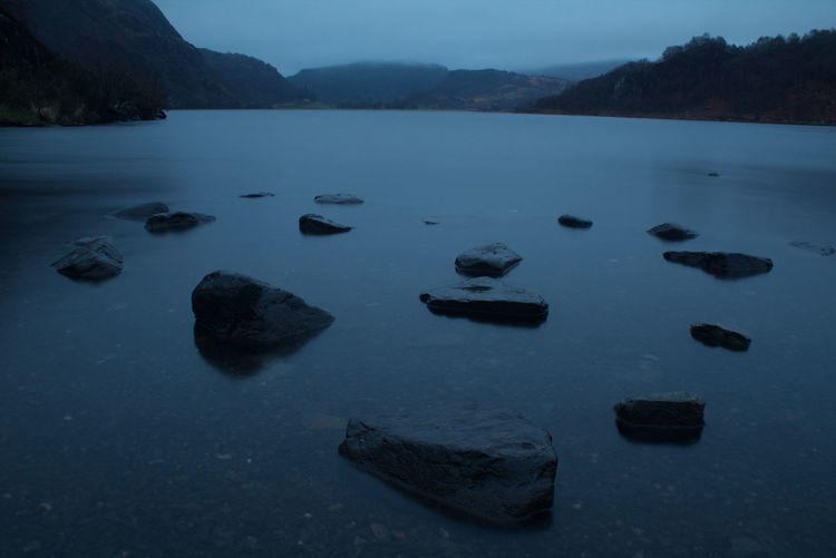 Long Exposure Rock - Object Rock Wales Welsh Countryside Blue Lake Mountain Landscape Sky Stepping Stone Stone - Object Tranquil Scene Tranquility The Next Step Scenics Countryside Idyllic Calm