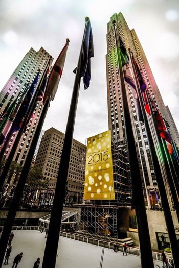 Newyorker Newyork New York New York City Manhattan City Life Scenery Shots Flags Architecture Perspective Newyorkcity Cityscapes Scenery Winter Architecture_collection Scenery Shot 30rock Rockefeller Center Rockefellerplaza Rockefeller Center, New York