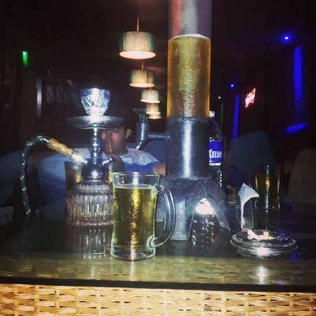 Chilling @blue mushroom Beer Hookah Cigrettes