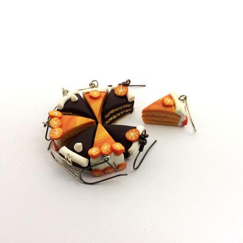 Chocolate Crafts Creativity Earrings Icing Orange SLICE Cake EyeEmNewHere Close-up Craft Food Handmade Jewel Jewellery Jewelry No People Polymer Polymer Clay Realistic Slices Studio Shot Sweet Sweets White Background