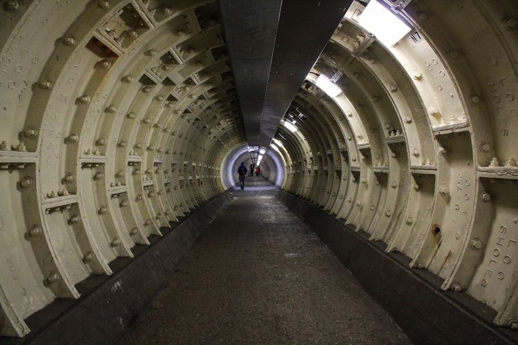 The Way Forward Diminishing Perspective Tunnel Indoors  Architecture Built Structure Day No People London City Greenwich Symmetry Illuminated