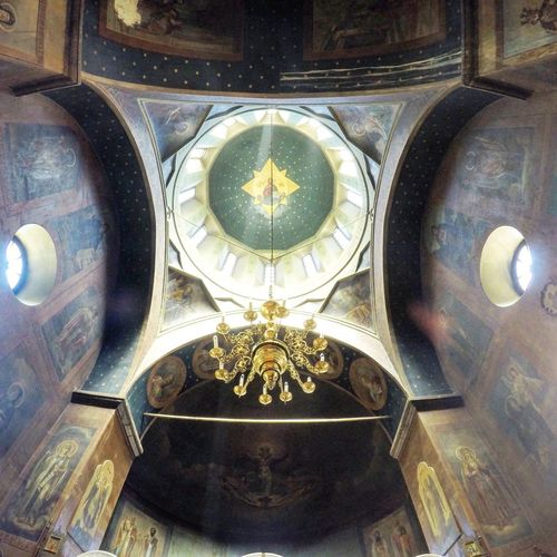 Architecture Architecture Caucasus Close-up Day Fisheye FishEyeEm Georgia Gopro Goprohero4 Human Representation Indoors  Low Angle View Monastery Mountain No People Ornate Orthodox Church Place Of Worship Tbilisi Tbilisi Loves You