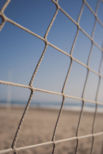 Close-Up Of Sport Net Against Blue Sky