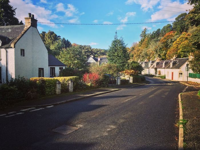 The village of Rosemarkie, in the Scottish Highlands House Village Scotland Scottish Highlands Road Street Rural