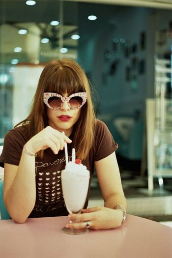 Analog Analogue Analogue Photography Beauty EyeEm Best Shots EyeEm Gallery Fashion Frappe Girl Pink Pink Color Streetphotography Sunglasses Sweet