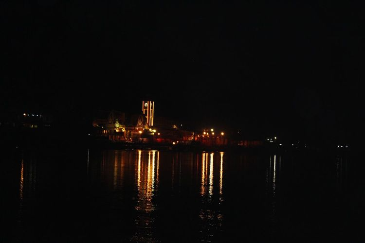 Ganga Ghaat Ganga Ghat Ganga Ganga River Light And Shadow Light Riverside River Riverbank Nightphotography Night Lights Night Night Photography River View EyeEm Selects Perfection Beautiful Ghaat God God's Beauty Temple Water Reflection
