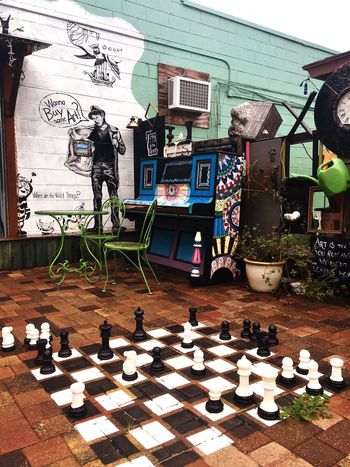 Chess Chess Piece Chess Board Eclectic No People Architecture Vintage Outdoors Outdoor Photography Rainy Days fur Furniture Chairs And Tables Mural Art