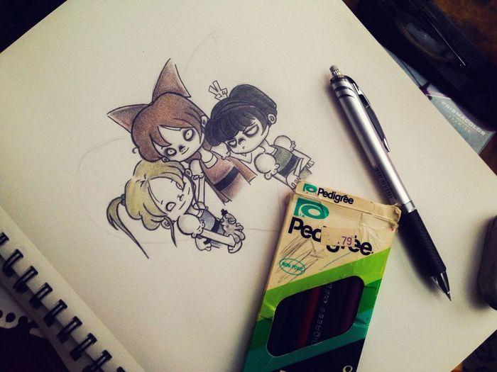 Art Wip Sketch Powerpuffgirls Work In Progress Fanart Cartoon Doodle Anime Cute
