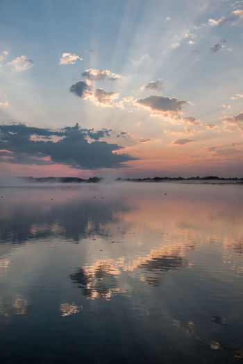 Federsee Beauty In Nature Cloud - Sky Day Lake Nature No People Outdoors Reflection Scenics Sky Sunset Tranquil Scene Tranquility Water Waterfront