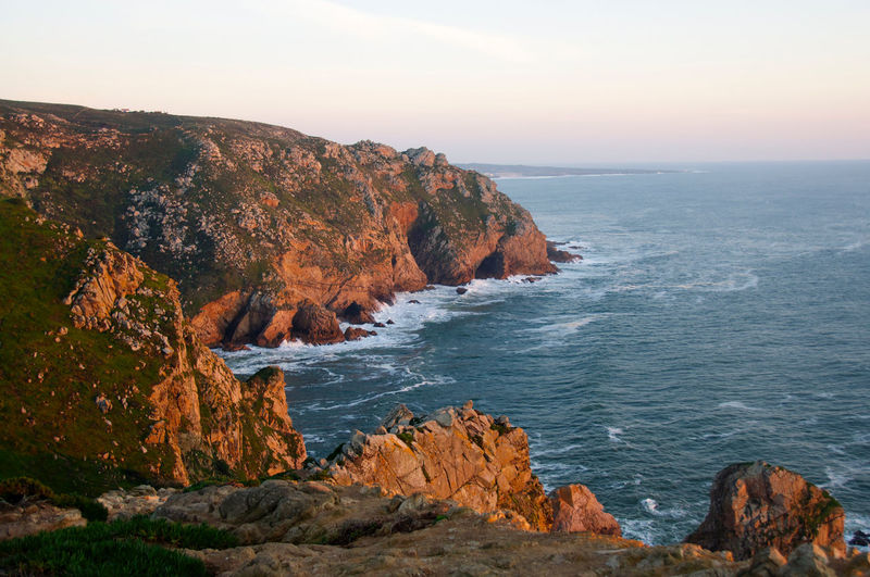 Beauty In Nature Cabo Da Roca Cliff Coastline Ocean Portugal Scenics Sea Sunset Travel Destinations The Great Outdoors - 2016 EyeEm Awards