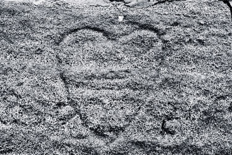 Heart of stone carved into the local pike. Stone Heart Love Carving Blackandwhite Heartofstone Rivingtonpike Rivington