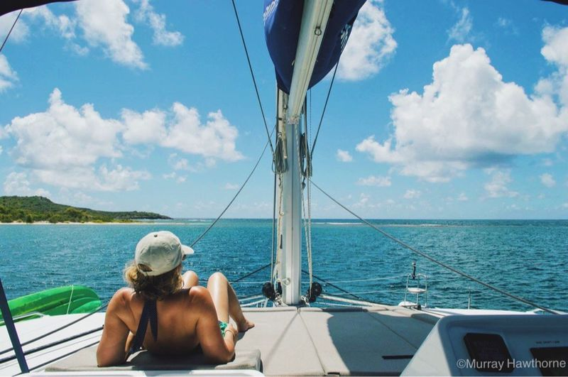 Caribbean Summer ☀️☀️☀️ Water Transportation Nautical Vessel Mode Of Transport Sea Leisure Activity Rear View Boat Lifestyles Sky Sitting Travel Tourism Antigua Tourist Person Sailboat Women Sun Ocean Sunbathing Caribbean Nikon VSCO Vscocam