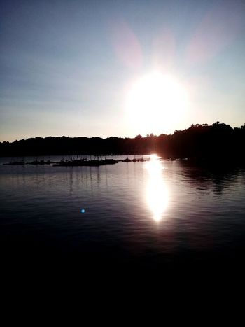 Sunset at Moehnesee.