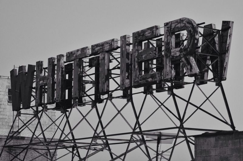 Whittier Sign Against Clear Sky