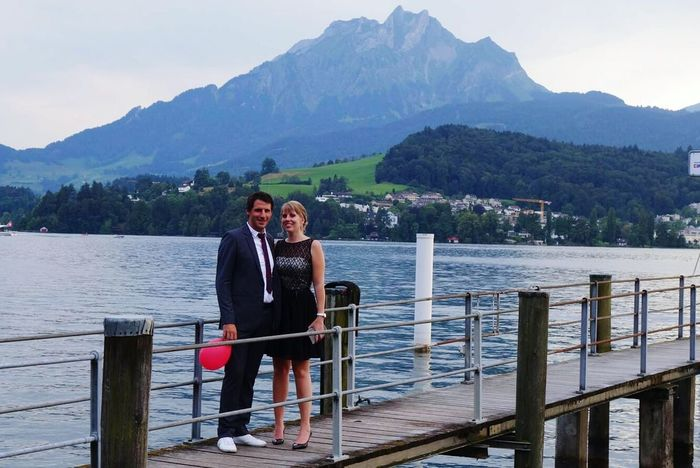 Switzerland Moments Of LifeLuzern Pilatus Lake View Wedding Party Weddingseason BlackDress Summertime Stylecouple