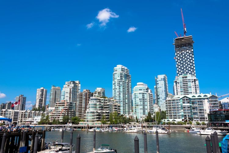 EyeEm EyeEm Best Shots Vancouver Architecture Building Building Exterior Built Structure Canada City Cityscape Financial District  Grandville Island Modern Nature No People Office Building Exterior Outdoors Sea Seaside Sky Skyscraper Urban Skyline Vancouver BC Water Waterfront