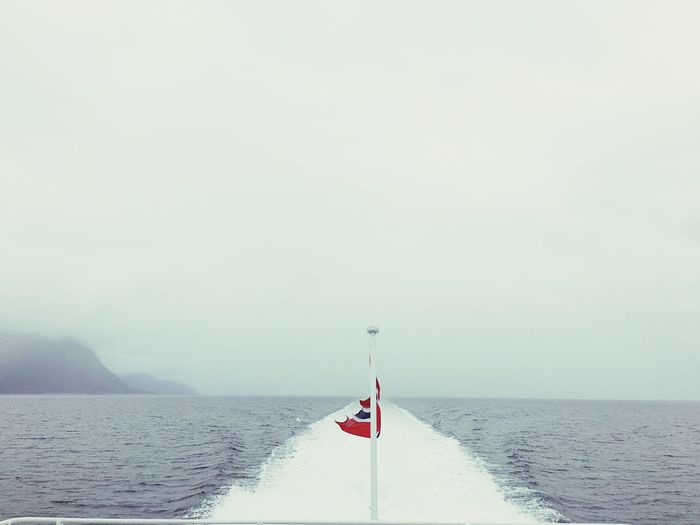 Norway Flag Nature Sea Water Outdoors No People Nature
