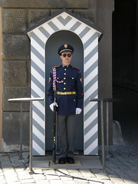 Guards Prague Adult Architecture Day Front View Full Length Guard Occupation Outdoors Protection Standing Uniform
