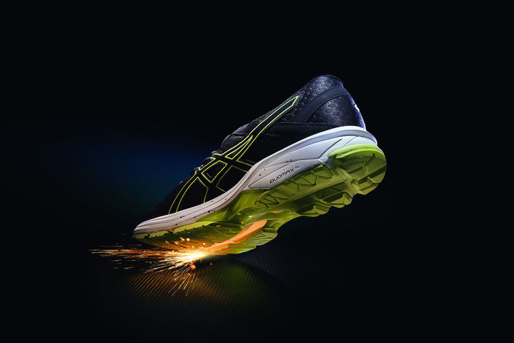 Sport shoe with fire spark Body & Fitness Diet Exercising Jump Running Action Black Black Background Close-up Commercial Gym Indoors  Motion Motion Capture No People Particles Professional Sky Sneaker Sneakers Sport Still Life Studio Shot Training Workout
