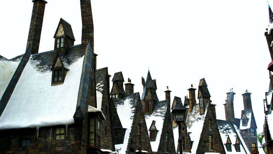 Happy New Year! Hollidays Travelling Tourism Roof Top Roof Rooftops Arhitecture Theme Park Winter Wonderland Winter Wintertime Snow Snow Day Harrypotter Harry Potter Wizard World Building Exterior Orlando Florida USA Hogsmeade Fantasy Fantasy World White Album White Color