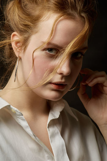 Close-up portrait of young woman