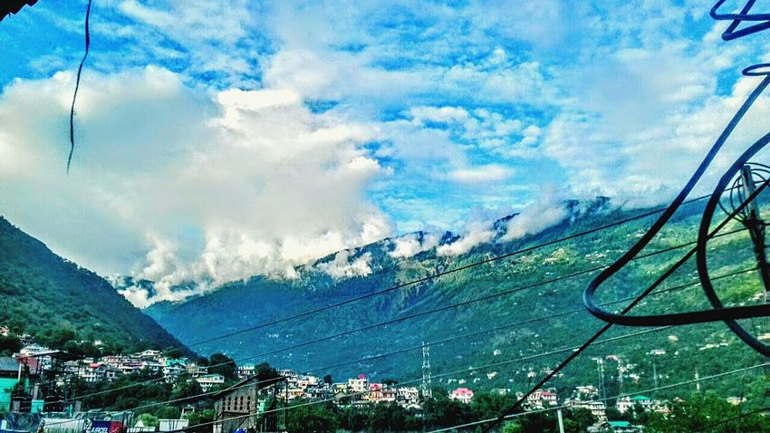 Mountain Cloud - Sky Sky Mountain Range Nature Day Outdoors Beauty In Nature No People Scenics Tree Landscape Phoneography Explore Himachal Kullu Valley Indiapictures Himachal Pradesh Nature Photography Green Color Beauty In Nature Environmental Conservation Himalayas