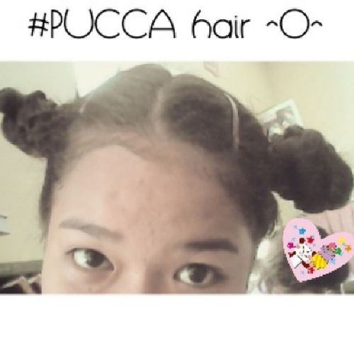 Married to this hair for a couple of hours. Haha. xx NotThatBadAfterAll BalikBata ^O^