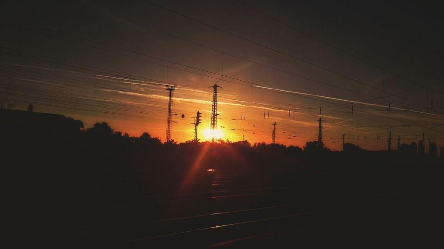 Sunrise Downlights Redsun Outdoors Taking Photos Workondown