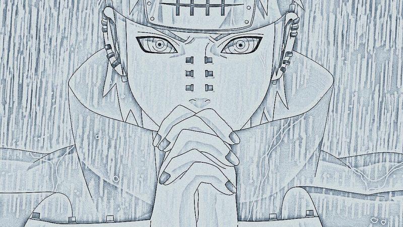 Pain Naruto Akatsuki Anime Drawing :)