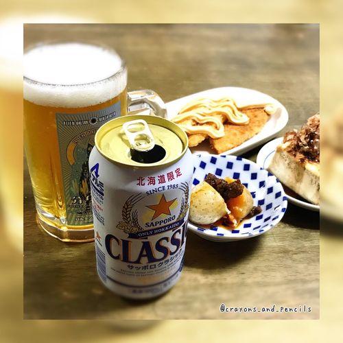 Sapporobeer SapporoCLASSIC 晩酌 Beer Beer Time Sapporo,Hokkaido,Japan 豆腐 鮭フライ じゃがいも