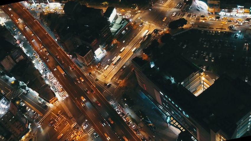 dji Mavic pro Illuminated Urban Skyline