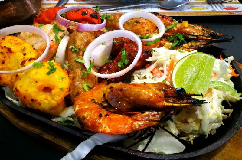 Indian Food North Indian Food Tandoori Tandooriplatter TandooriChicken Prawns Fish Kebab Chicken Kebab Lamb Kebab foodphotography Food Lover
