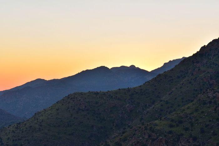Mountain Sunset Nature Sky Beauty In Nature Landscape Outdoors Mountain Range Scenics Arizona Nikon Growth Orange Sky Arizona Sunset Arizona Landscape Cloud - Sky Paint The Town Yellow
