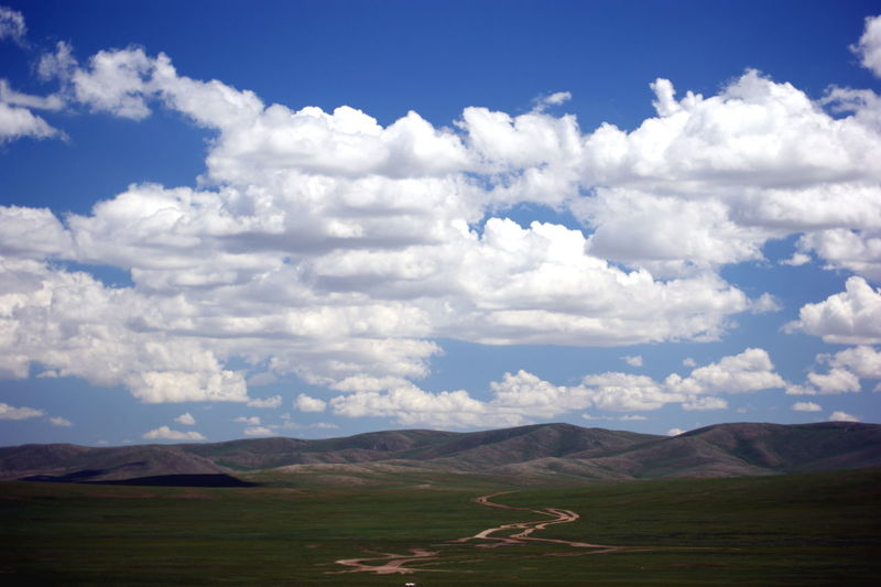 Mongolia Beauty In Nature Cloud - Sky Day Environment Idyllic Landscape Mountain Mountain Range Nature No People Non-urban Scene Outdoors Scenics - Nature Sky Steppe Tranquil Scene Tranquility Монгол улс