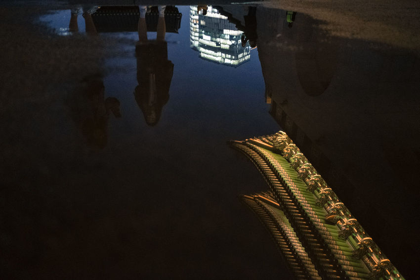 Night Outdoors Road Illuminated Sky Yoonjeongvin Seoul_architecture Seoul, Korea Seoul Cityscape City Built Structure Reflection Building Exterior HUAWEI Photo Award: After Dark
