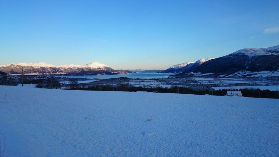 Winter White By CanvasPop Sky Mountains Eide På Nordmøre