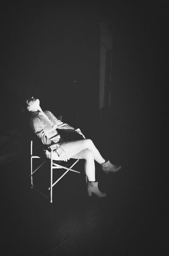 at the theater.... Black & White Theater Light And Shadow Loneliness Light And Darkness  Darkness And Light