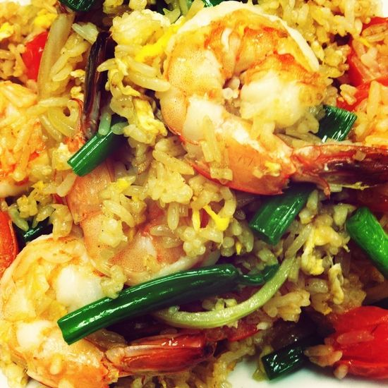 Thai Fried Rice with Shrimps! Yummy!