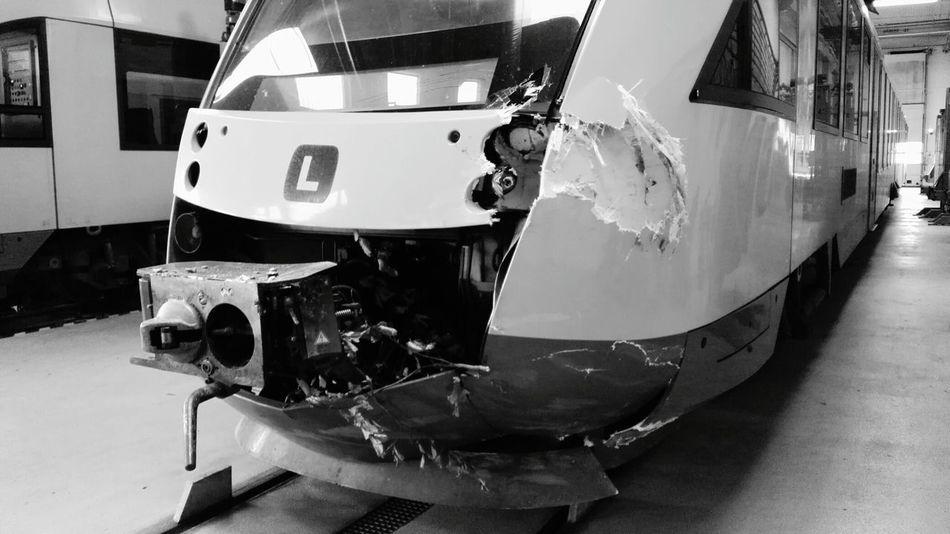 Transportation Train Crash Train Vs Tree Treefall Trainwreck Stormy Night