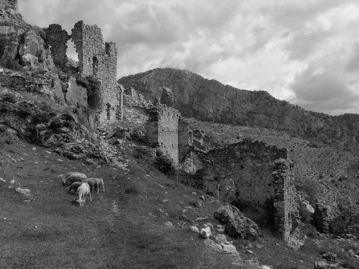 View of a ruins of a building