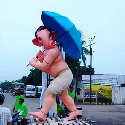 God Rain Umbrella Ganesha GaneshChaturthi Ganeshfestival Ganpati GanpatiBappaMorya First Eyeem Photo